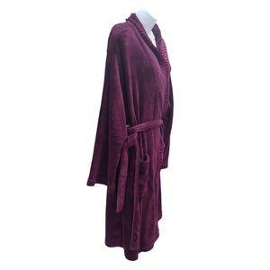 Capelli of New York Intimates & Sleepwear - Capelli New York Robe Plush Soft Pockets Purple XL